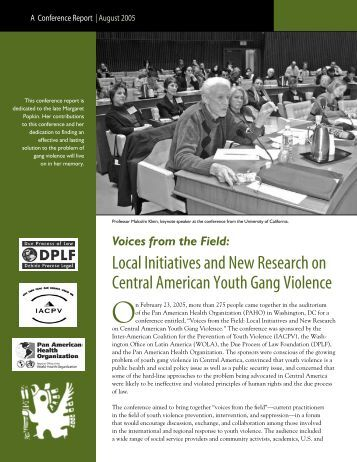 Voices from the Field: Local Initiatives and New Research on ...