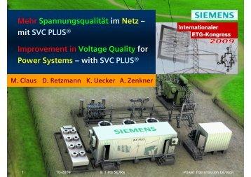 with SVC PLUS - Siemens