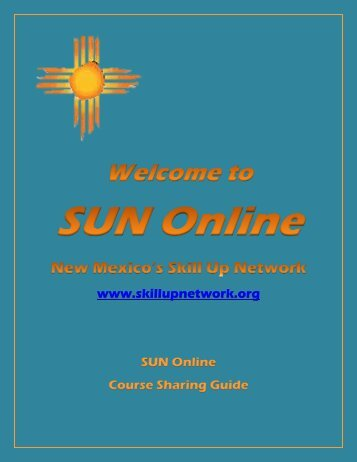 SUN Online Course Sharing Guide - Santa Fe Community College