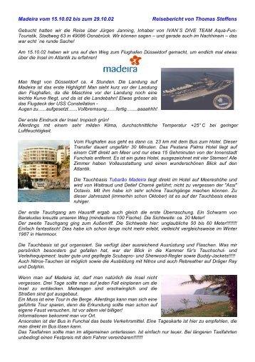 Madeira vom 15.10.02 bis zum 29.10.02 ... - Ivan`s Dive Team