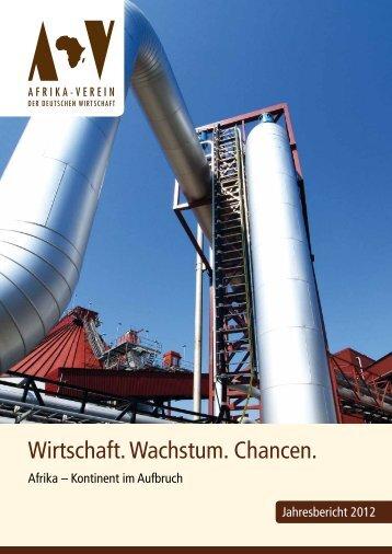 Tätigkeitsbericht 2012 - Afrika-Verein der deutschen Wirtschaft eV