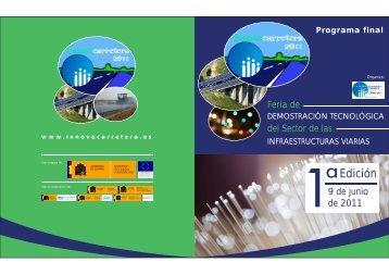 Programa Final INNOVACARRETERA 2011 - Plataforma ...