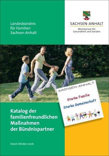Katalog der familienfreundlichen Maßnahmen der Bündnispartner