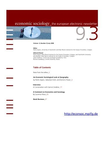 3 - Economic Sociology - MPIfG