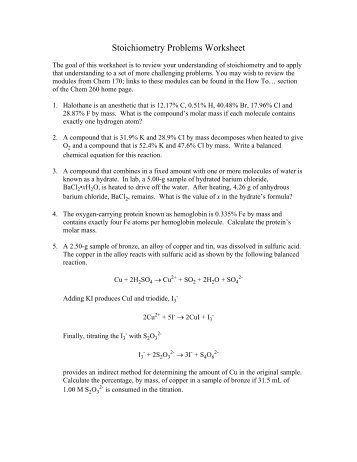 stoichiometry problems worksheet free worksheets library download and print worksheets free. Black Bedroom Furniture Sets. Home Design Ideas