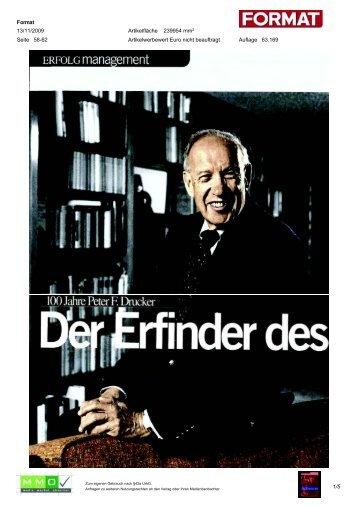 100 Jahre Peter F. Drucker - Peter Drucker Society of Austria