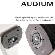 Bedienungsanleitung für Comp Lautsprecher ... - MW-AUDIO