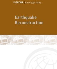 GFDRR Knowledge Notes: Earthquake Reconstruction