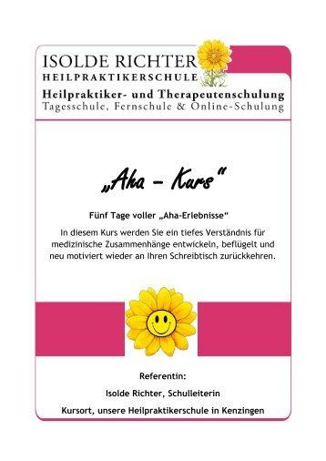 """""""Aha-Kurs"""" Organsysteme verstehen und ... - Isolde Richter"""