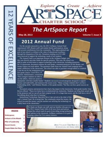 3rd/4th Quarter Newsletter - ArtSpace Charter School