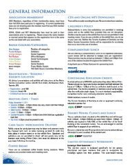 GENERAL INFORMATION - Toronto Academy of Dentistry