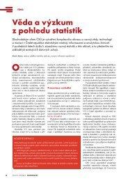 věda a výzkum z pohledu statistik - Český statistický úřad