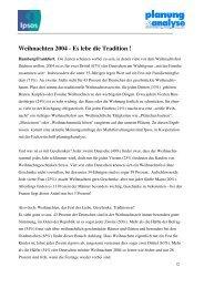 Weihnachten 2004 - Es lebe die Tradition ! - Ipsos GmbH