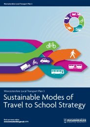 Sustainable Modes of Travel to School Strategy - Worcestershire ...