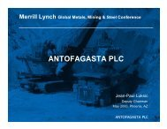 Investor presentation: Merrill Lynch conference ... - Antofagasta plc