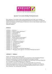 Algemene Voorwaarden Stichting Webshop Keurmerk