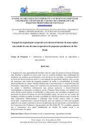 O papel da organização cooperativa no desenvolvimento ... - SOBER