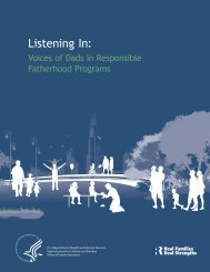 Listening In: - The South Carolina Center for Fathers and Families