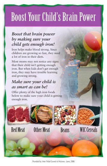 Boost Your Child's Brain Power - Inter Tribal Council of Arizona, Inc.