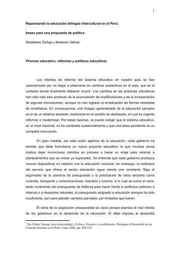 Repensando la educación bilingüe intercultural en el ... - Cholonautas