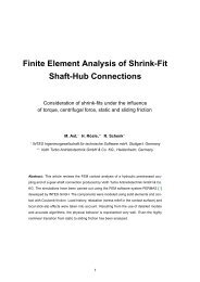 FE Analysis of Shrink-Fit Shaft-Hub Connections -  intes