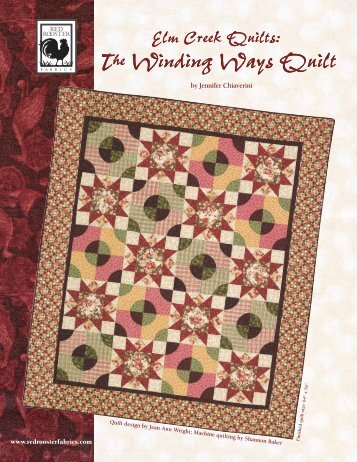 Elm Creek Quilts - Winding Way by Red Rooster - 3 Dudes Quilting