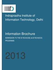 Download Brochure - IIIT-Delhi