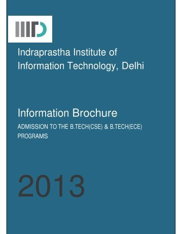 Download Brochure - IIIT-Delhi