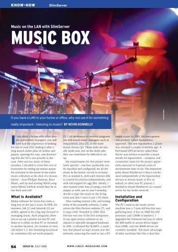 MUSIC BOX - Linux Magazine