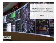 July Transmission Summit Congestion Review and Analysis
