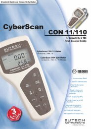 CyberScan CON 11/110 Conductivity/TDS/RS232 Meter - Eutech