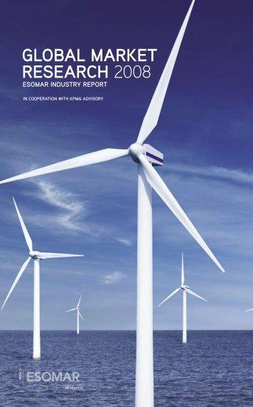 global market research 2008 esomar industry report in