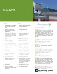 BattenLok HS - Ceco Building Systems