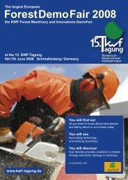 Flyer ForstDemoFair - KWF-Tagung