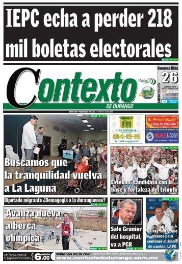 26/06/2013 - Contexto de Durango
