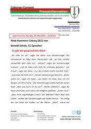 Rede vom Sprecher Ronald Scholz zum Pfingst-Kommers 2012