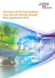 Summary of key findings from the CCRA - Defra