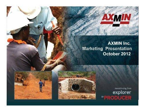 Passendro Gold Project - AXMIN Inc.