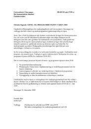 2. Saksbehandling av studier - Universitetet i Stavanger