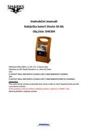 Instrukční manuál Nabíječka baterií Sharks SH 8A Obj.číslo SHK304