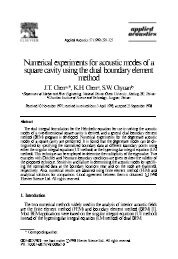 Numerical experiments for acoustic modes of a square cavity using ...