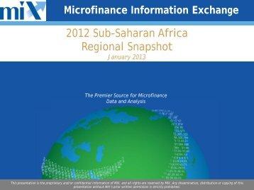 2012 Sub-Saharan Africa Regional Snapshot.pdf - Microfinance ...
