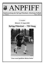 SpVgg Pittenhart – TSV Haag