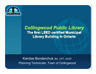 Collingwood Public Library Collingwood Public Library - Canadian ...