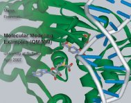Molecular Modeling Examples (QM/MM) - University at Buffalo