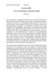 Kapitel III Gautama Buddhas geheime Lehre I Seite 008-009