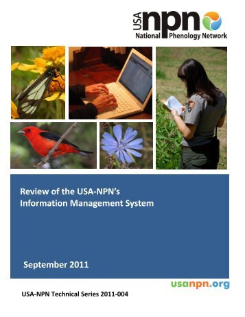 A review of the USA-NPN Information Management System (IMS)