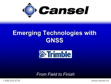 Emerging Technologies with GNSS