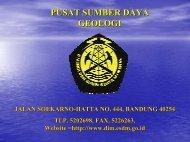 Reorganisasi Direktorat Inventarisasi Sumber Daya Mineral
