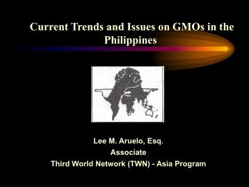 Current Trends and Issues on GMOs in the ... - Planet Diversity